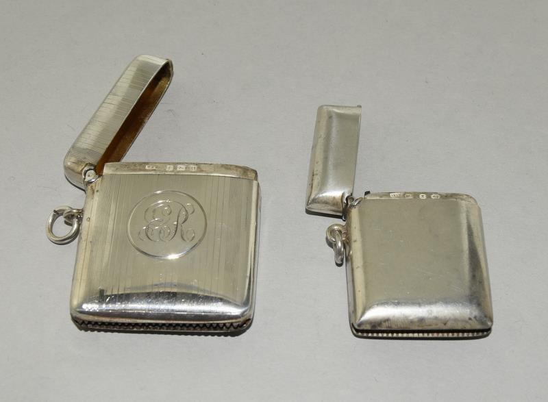 2 Silver Hallmarked Vesta Cases - Image 3 of 5