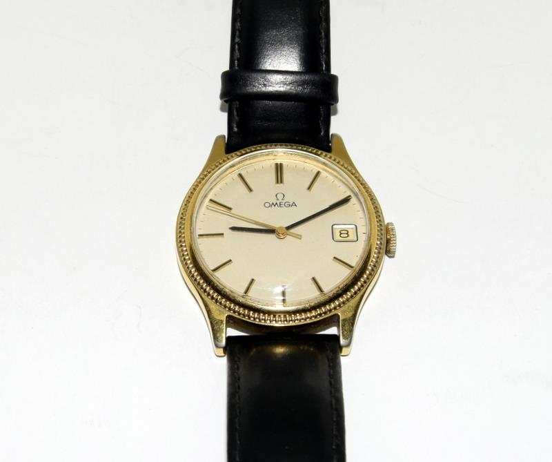 Gold Plated Vintage Omega Manual Wind Wristwatch. - Image 7 of 7