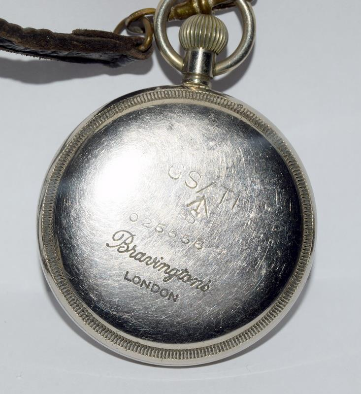 Military GS/TP pocket watch by Bravingtons of London will require a service to get working - Image 3 of 5