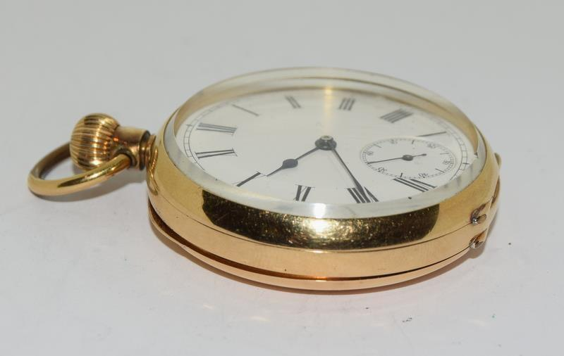 18ct Gold Full Face Pocket Watch. - Image 13 of 20