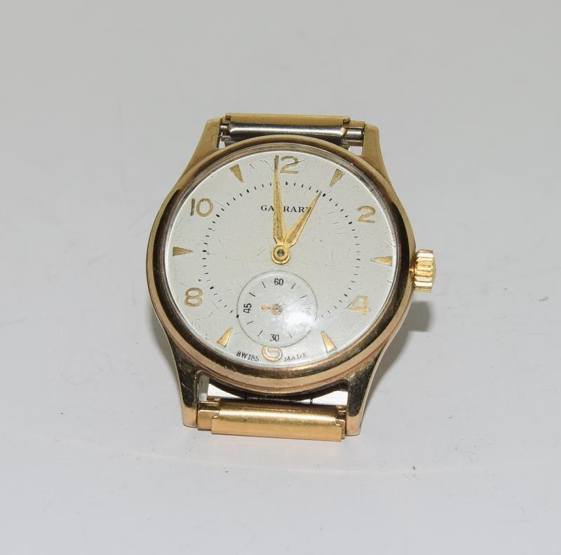 Garrard 9ct Gold 1960s presented by the Ford Motor Company gents manual wind wrist watch. - Image 8 of 8