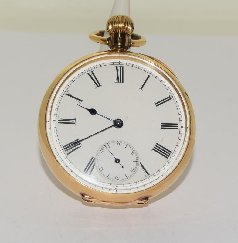 18ct Gold Full Face Pocket Watch.