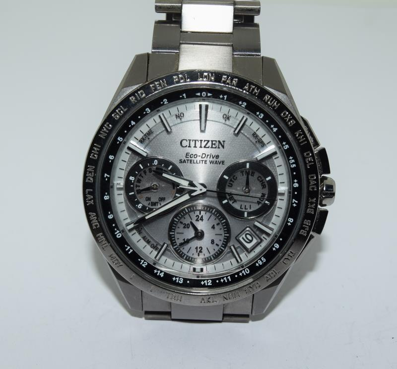 Citizen Eco-Drive Satellite eave Steel mans watch. - Image 4 of 13