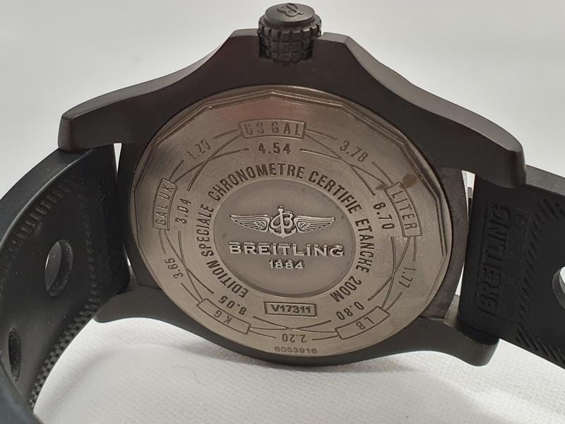 Breitling Blackbird Watch in box with papers. - Image 5 of 5