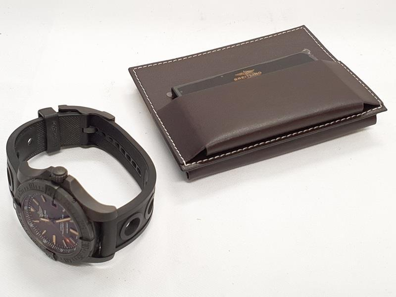 Breitling Blackbird Watch in box with papers. - Image 3 of 5