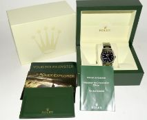 Rolex Explorer 1 Oyster watch - 36mm with bezel protector, spare link. Excellent condition, with