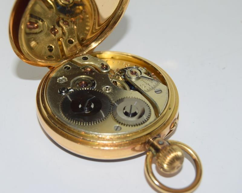 18ct Gold Full Face Pocket Watch. - Image 18 of 20