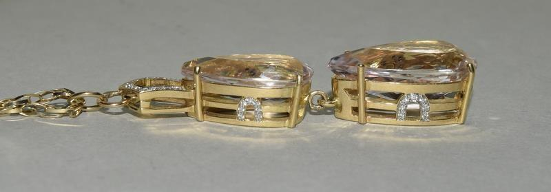 18ct Gold Kuuzite Diamond necklace. - Image 3 of 6