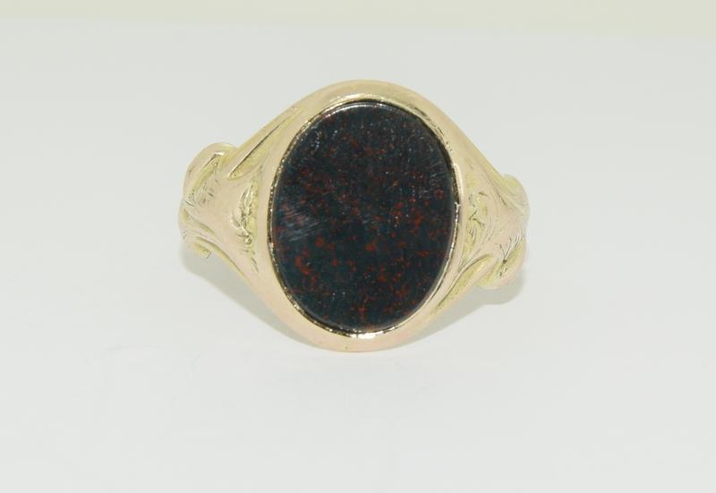 9ct Gold Signet Ring. - Image 5 of 5
