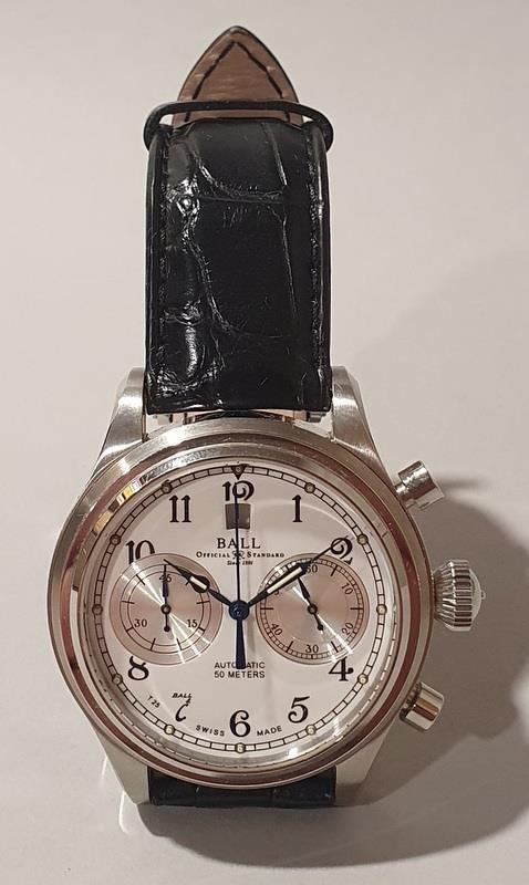 Gentleman's Automatic Chronograph Watch by Ball with box and papers. - Image 2 of 5