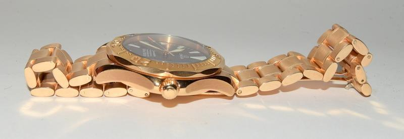 Rose Gold Omega Seamaster Wristwatch 300, Reference No. 2136500, boxed and papers. - Image 6 of 12