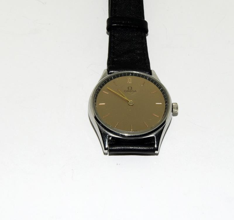 Stainless Steel Vintage Omega Manual Wind CAL G25 Watch