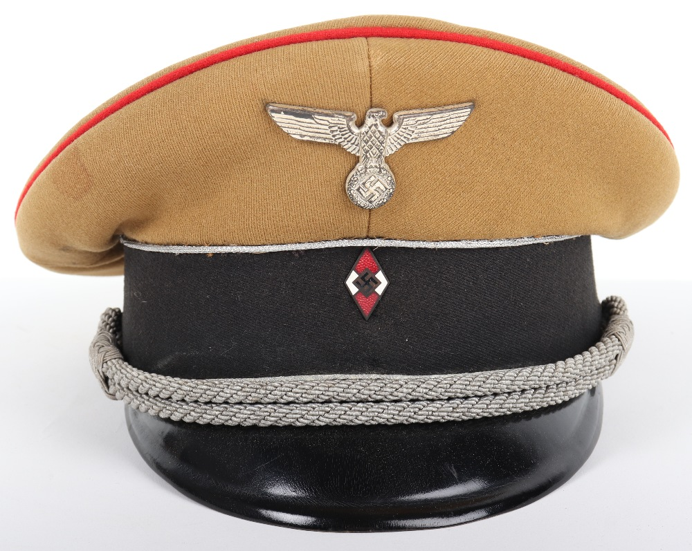 Lot 40 - Third Reich Hitler Youth Leaders Peaked Cap