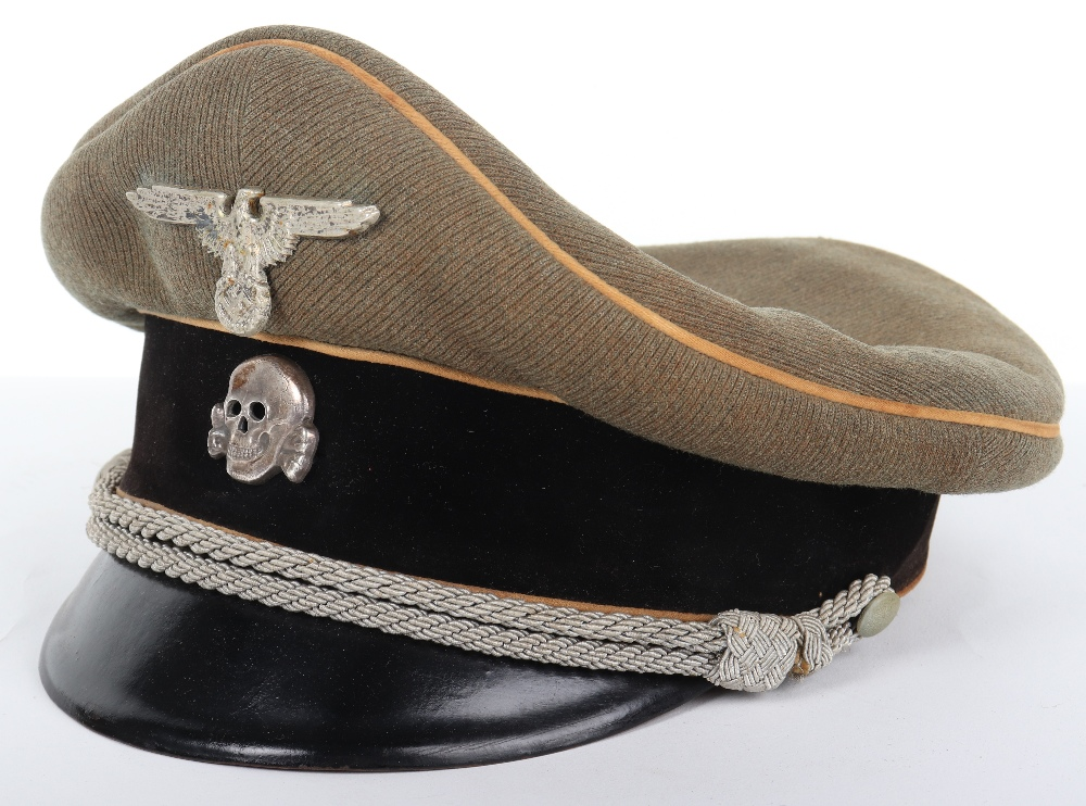 Lot 41 - Waffen-SS Officers Peaked Cap