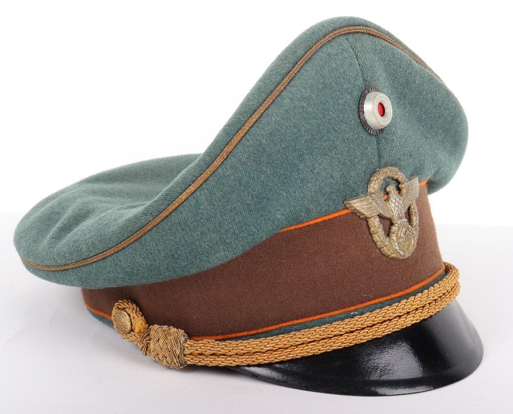 Lot 18 - Third Reich Police Gendarmerie Generals Peaked Cap