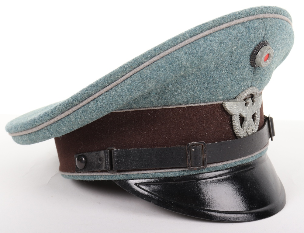 Lot 44 - Third Reich Police Administration Enlisted Mans / NCO's Peaked Cap