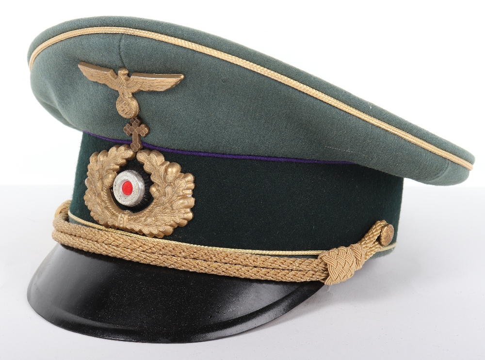 Lot 19 - Third Reich Army Chaplain Generals Peaked Cap