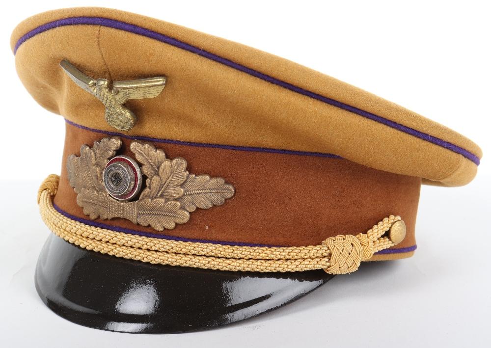 Lot 45 - Third Reich NSDAP Judicial Branch Peaked Cap