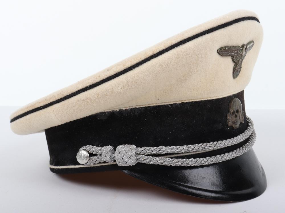 Lot 9 - Allgemeine-SS Officers Summer Pattern Peaked Cap
