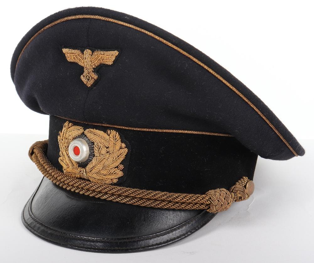 Lot 43 - Third Reich TENO (Technische Nothilfe) Leaders Peaked Cap
