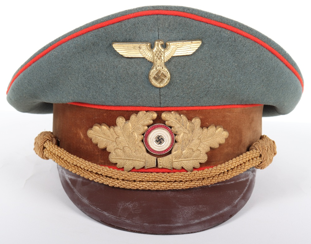 Lot 54 - Third Reich NSDAP Eastern Territories Gauleitung Peaked Cap