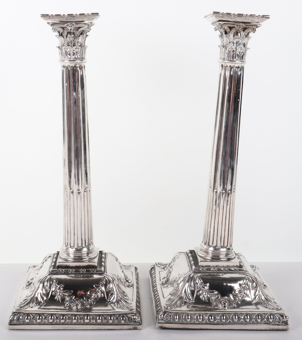 Lot 122 - A pair of large George II candlesticks, London 1756