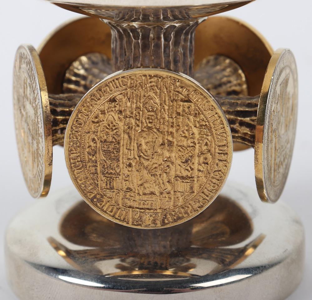 Lot 52 - A rare Stuart Devlin silver and silver gilt 'Bristol 600' goblet