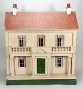 A Lines Bro wooden two storey dolls house, English circa 1910,