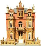 A rare and large Moritz Gottschalk model 2248 Blue roof Dolls House with original contents, German c
