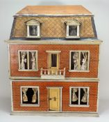 A good Christian Hacker three story dolls house, German circa 1880,