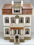 'Gretelorg' an interesting painted wooden dolls house, possibly Christian Hacker, circa 1910,
