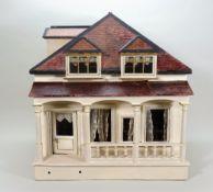 Christian Hacker wooden dolls house, model 422, German circa 1905,