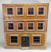 A good English painted wooden dolls house, mid 19th century,