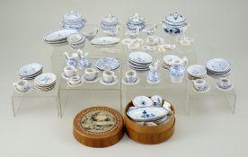 A good Dolls House miniature Dinner Service, English 1880s,