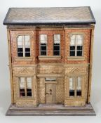 A Christian Hacker two storey dolls house and contents model 357, German circa 1900,