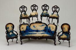 A rare set of Rock & Graner parlour furniture, German 1870s,