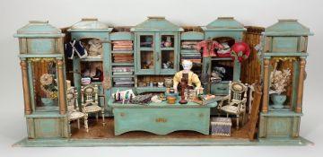 A Good Draper's Shop room set, German late 19th century,