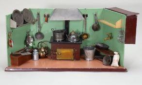 Rare tinplate Rock and Graner Kitchen room set, German circa 1880,