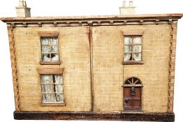 An Early English painted wooden dolls house, mid 19th century,