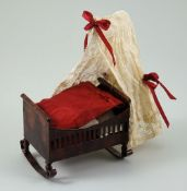 A Rare Rock & Graner tin-plate cradle, German 1870s,