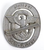 Third Reich Police Ski Fuhrer Award Badge