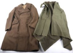 WW2 British Suffolk Regiment Greatcoat and Jungle Poncho