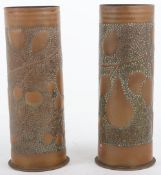 WW1 Pair of Trench Art Shells