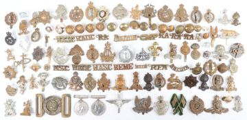 Box of mostly Military Badges