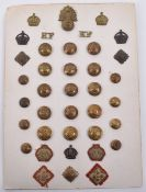 Card of Royal Fusiliers Badges and Buttons