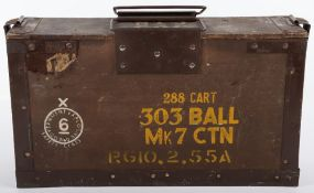 WW2 US 30 Cal Metal Ammunition Box