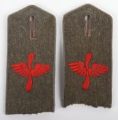 Matched Pair of WW1 German Flieger Abteilung Nr 4 Tunic Shoulder Straps
