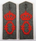 Matched Pair of Imperial German Dragoner-Regiment Konigin Olga (1.Wurttembergisches) Nr 25 M-1908 Sh