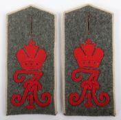 Matched Pair of Imperial German Kaiser Alexander Garde-Grenadier-Regiment Nr 1 M-1907 Shoulder Strap