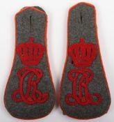 Rare Matched Pair of WW1 German Thuringisches Uhlan-Regiment Nr 6 Shoulder Straps